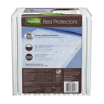 """Depend® Bed Protector 36""""x21-3/4"""" Tri-Loc Triple Layer Protection"""