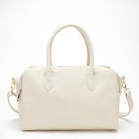 Dual Zippered Top Satchel