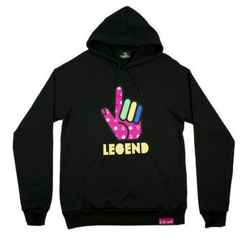 Pink+Dolphin - Legend Up Hoodie in Black