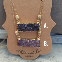 Boheme Druzy Necklace