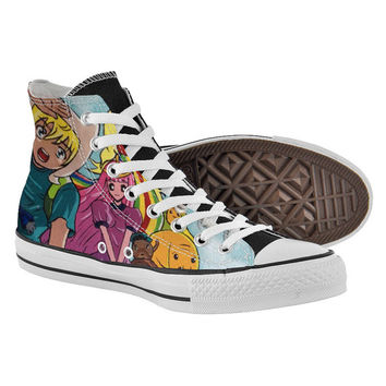 Adventure time Shoes,High Top,canvas shoes,Painted Shoes,Special Christmas Gift,Birthday gift,Men Shoes,Women Shoes