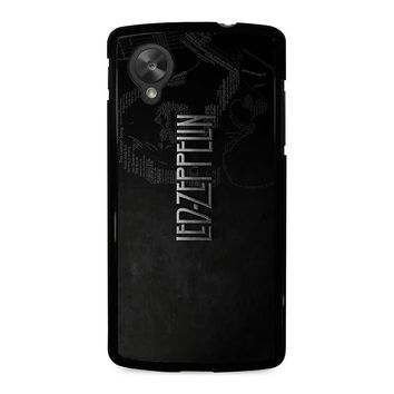 LED ZEPPELIN LYRIC Nexus 5 Case Cover