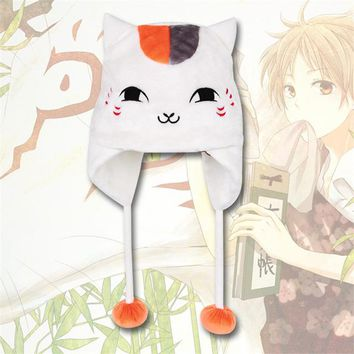 Anime Japanese Natsume Yuujinchou Hat neko sensei Totoro Kuma Plush Cute Student Cat winter chopper Cos Cosplay Hat