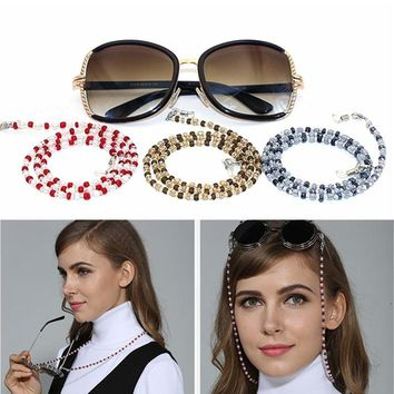 Fashion Design Women Fanciest Sunglasses Lanyards Reading Glasses Cord Holder Neck Strap Rope Glass Beads Eyeglass Chains G123