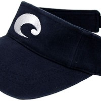 Cotton Visor in Navy by Costa Del Mar