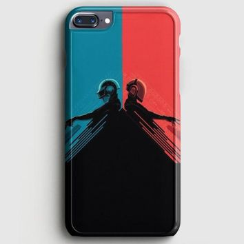 Daft Punk Red And Blue iPhone 8 Plus Case | casescraft
