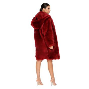 All Good In The Hood Faux Fur Coat