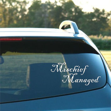 Mischief Managed Vinyl Car Decal FREE SHIPPING