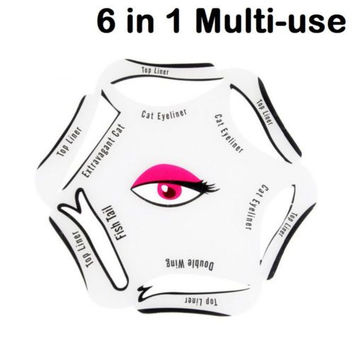 6 in 1 Stencils Eyeliner Template Smoky Makeup Guide Cat  Liner Quick Tool