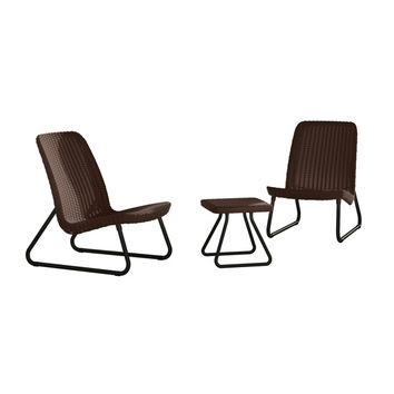 Keter Plastic Rio Patio Set   Overstock.com Shopping - The Best Deals on Bistro Sets