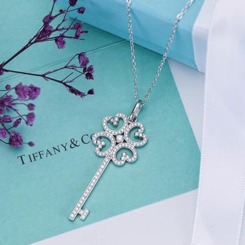 Tiffany & Co. Four-leaf clasp key necklace