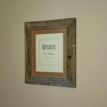"Barn Wood Picture Frame - 11"" x 14"""