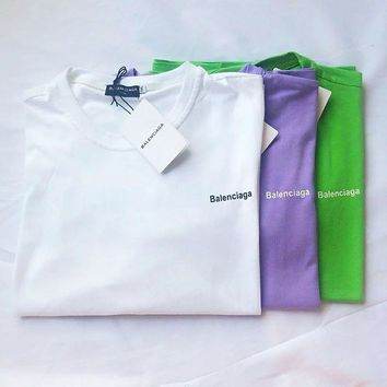 Balenciaga Letter print wild retro loose men and women with short-sleeved t-shirt