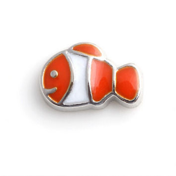 Zinc Alloy goldfish Enamel Floating Charms for Origami Owl Living Locket
