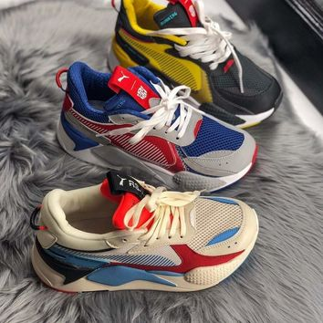 PUMA RS-X TOYS Colour collision stitching daddy shoes men and women s  leisure running shoes fbe595add48f