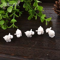 5Pcs / Set Kawaii Mini Sheep, Dolphins, Animals Home Micro Fairy Garden Miniatures Figurines