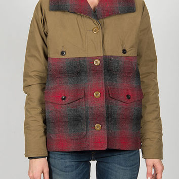 Woolrich - The Mix-Up Wool Jacket in Red Plaid