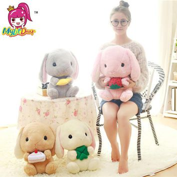 40cm Rabbit Dolls Plush Classical Lying Bunny Rabbit Toy Amuse Lolita Loppy rabbit Kawaii Soft Pillow for Kids Friend Girls