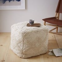 Diamond Bubble Wool Pouf