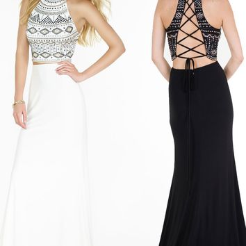 Alyce 6699 Beaded Jersey Two Piece Dress