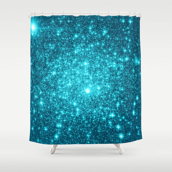 Turquoise Shower Curtain by WhimsyRomance&Fun