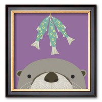 Art.com ''Peek-a-Boo Otter'' Framed Art Print By Yuko Lau (Coventry)