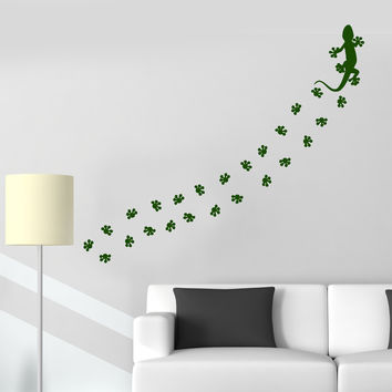 Vinyl Wall Decal Animal Lizard Salamander Pet Shop Tracks Stickers Unique Gift (922ig)