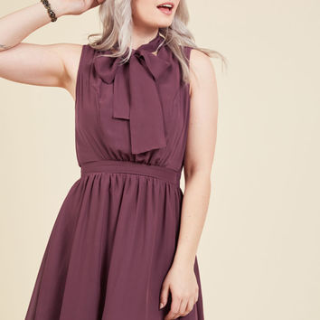 Give it Timeless A-Line Dress in Aubergine | Mod Retro Vintage Dresses | ModCloth.com