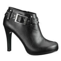Halo stud and buckle bootie