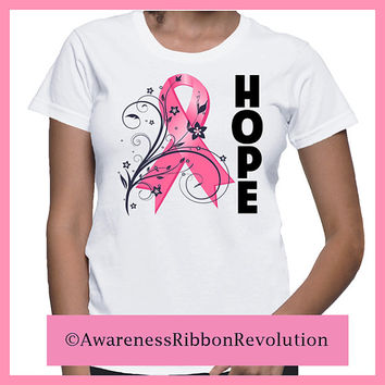 Hope Breast Cancer Awareness Ribbon Shirt