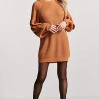 Oversized Ribbed Knit Sweater Dress