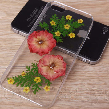 iPhone 6 case iPhone 6 plus Pressed Flower, iPhone 5/5s case, iPhone 4/4s case, 5c case Galaxy S4 S5 Note 2 note 3 Real Flower case NO:F123