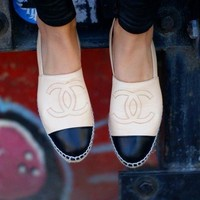 Tourtownbeach: Chanel Fashion Espadrilles For Women shoes White