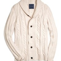 Cashmere Large Cable Cardigan - Brooks Brothers