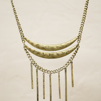 Gold Hammered Tiered Necklace