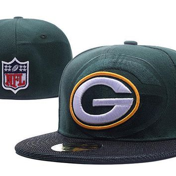 PEAPON Green Bay Packers New Era 59FIFTY NFL Football Hats