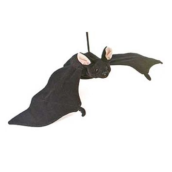 23 Inch Black Stuffed Bat Plush Woodland Forest Collection