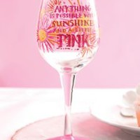 Handpainted Wine Glass - Lilly Pulitzer