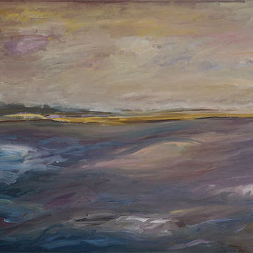 Original Oil Painting 36x24, Canvas Art, Landscape, Fine Art, Trieste, Italy, Adriatic Sea, Plein Air, by Scott Zdon