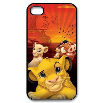Hakuna Matata Lion King Boar Peng Peng Hard Phone Cases Cover for iphone 4 4s 5 5s 5c 6 6s 6plus 6s plus hwd