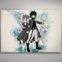 Gray Juvia Fairy Tail  Watercolor Print Poster Anime Manga 11.70 x 16.50 A3 No192