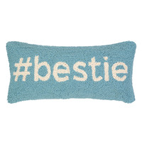 Hashtag Bestie Hand Hooked Pillow