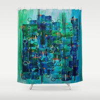 :: Midnight Call :: Shower Curtain by :: GaleStorm Artworks ::