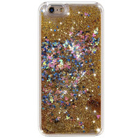 GOLDEN CONFETTI GLITTER IPHONE CASE