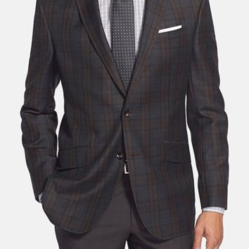 Ted Baker London 'Jones' Trim Fit Plaid Wool Sport Coat,