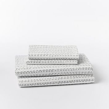 Organic Hand Drawn Stripe Sheet Set