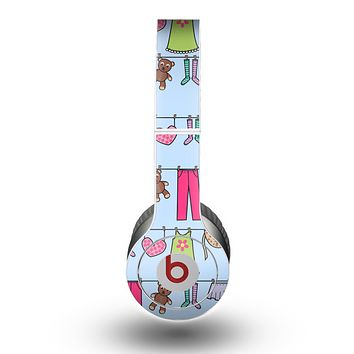 The Neon Clothes Line Pattern Skin for the Beats by Dre Original Solo-Solo HD Headphones