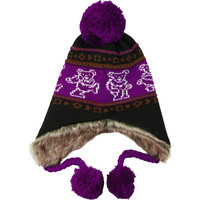Grateful Dead Men's Dancing Bears Beanie Purple