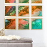 Madart Inc. The Beauty of Color Orange Framed Wall Mural | DENY Designs Home Accessories