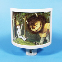 Where the Wild Things Are Max is King vintage kids book Night Light cute nursery bathroom hallway bedroom TAKE IT with